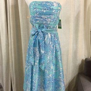 Lily Pulitzer Anglette Strapless Dress sz 10 NWT